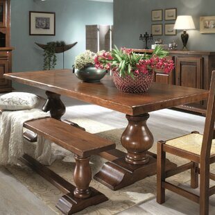 Orleans Cevennes Solid Wood Dining Table Wildon Home®