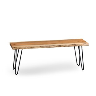 Tindle Hairpin Wood Bench By Alpen Home