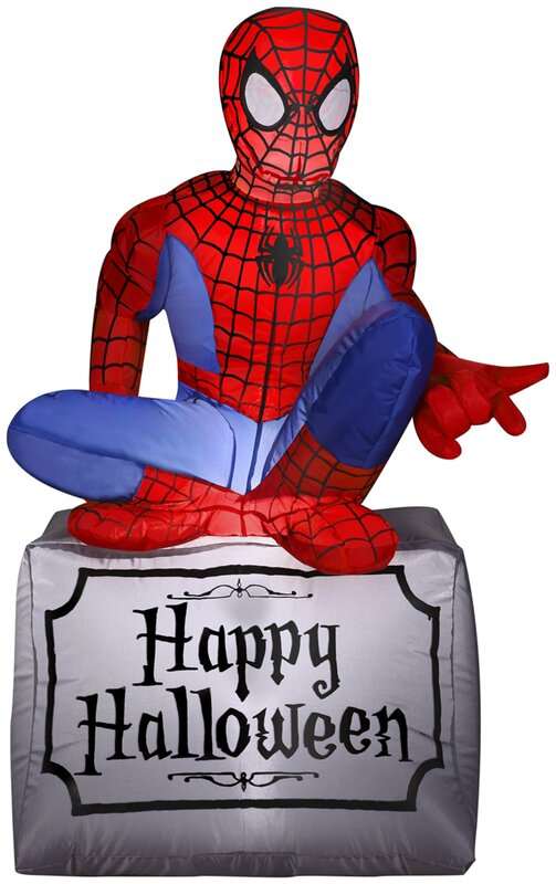 spiderman airblown inflatable halloween decoration