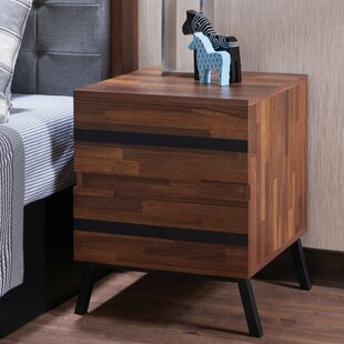 Egor Square 2 Drawer Nightstand by Union Rustic