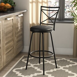 Winston Porter Adrienne Adjustable Height Swivel Bar Stool