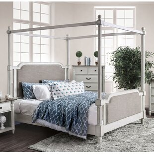Vickey Upholstered Canopy Bed by Canora Grey