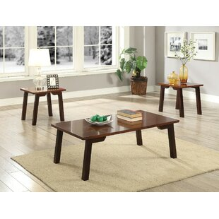 Ebern Designs Lipkvich Wooden 3 Piece Coffee Table Set