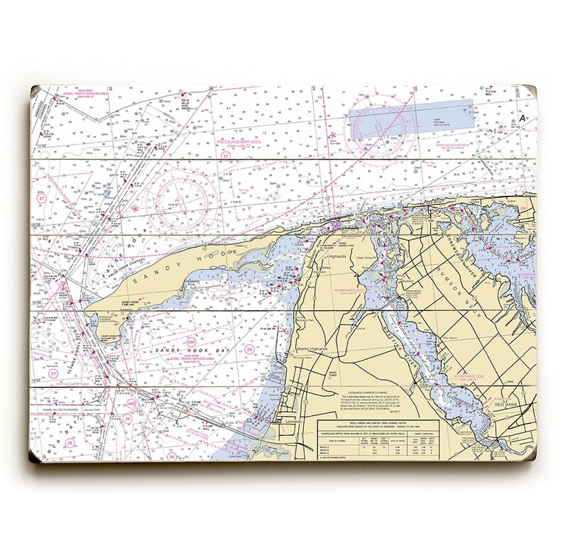 Longshore Tides Nj Sandy Hook Nj Nautical Chart Sign Graphic Art