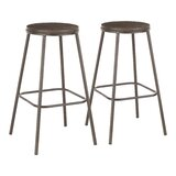 Canisteo Solid Wood 29.75 Bar Stool (Set of 2) by George Oliver
