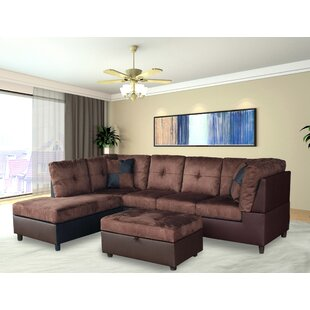 Reviews Eliseo Sectional with Ottoman By Ebern Designs
