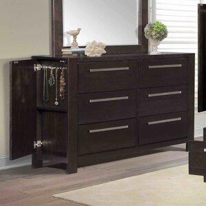 Theodor 6 Drawer Dresser by Wade Logan