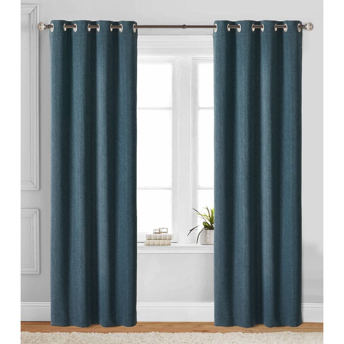 R Window Solid Blackout Curtains Ds