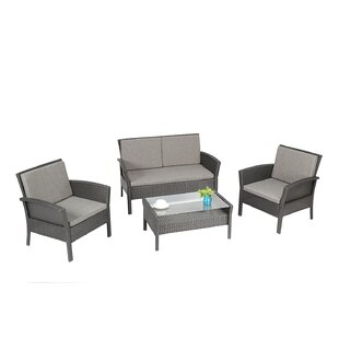 Diep Outdoor Complete 4 Piece Sofa Seating Group