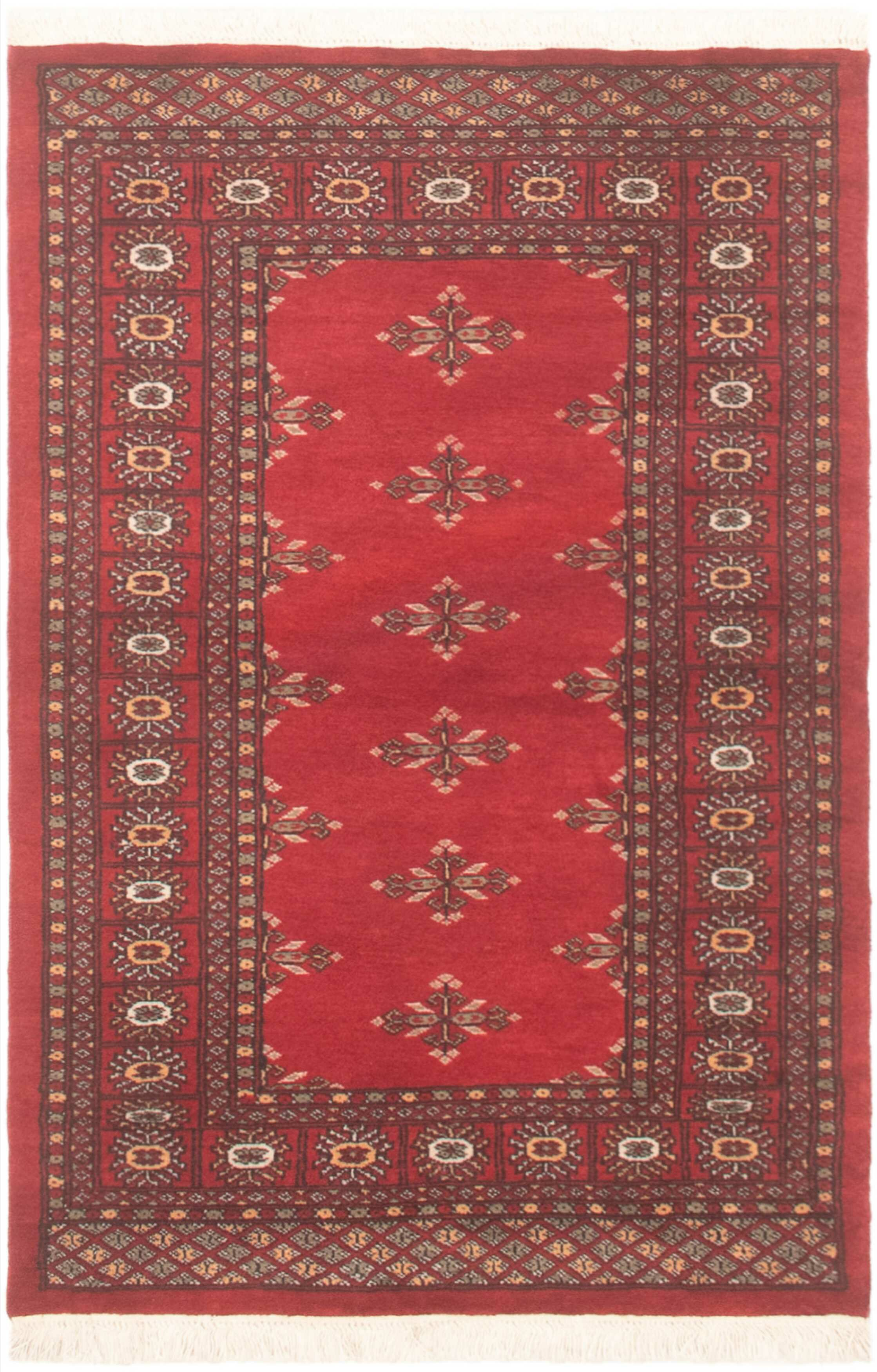 Bloomsbury Market One Of A Kind Melaina Hand Knotted 2010s Bokhara Red Brown 3 1 X 4 10 Wool Area Rug Wayfair