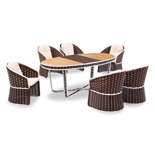 Bay Isle Home Polis 7 Piece Dining Set
