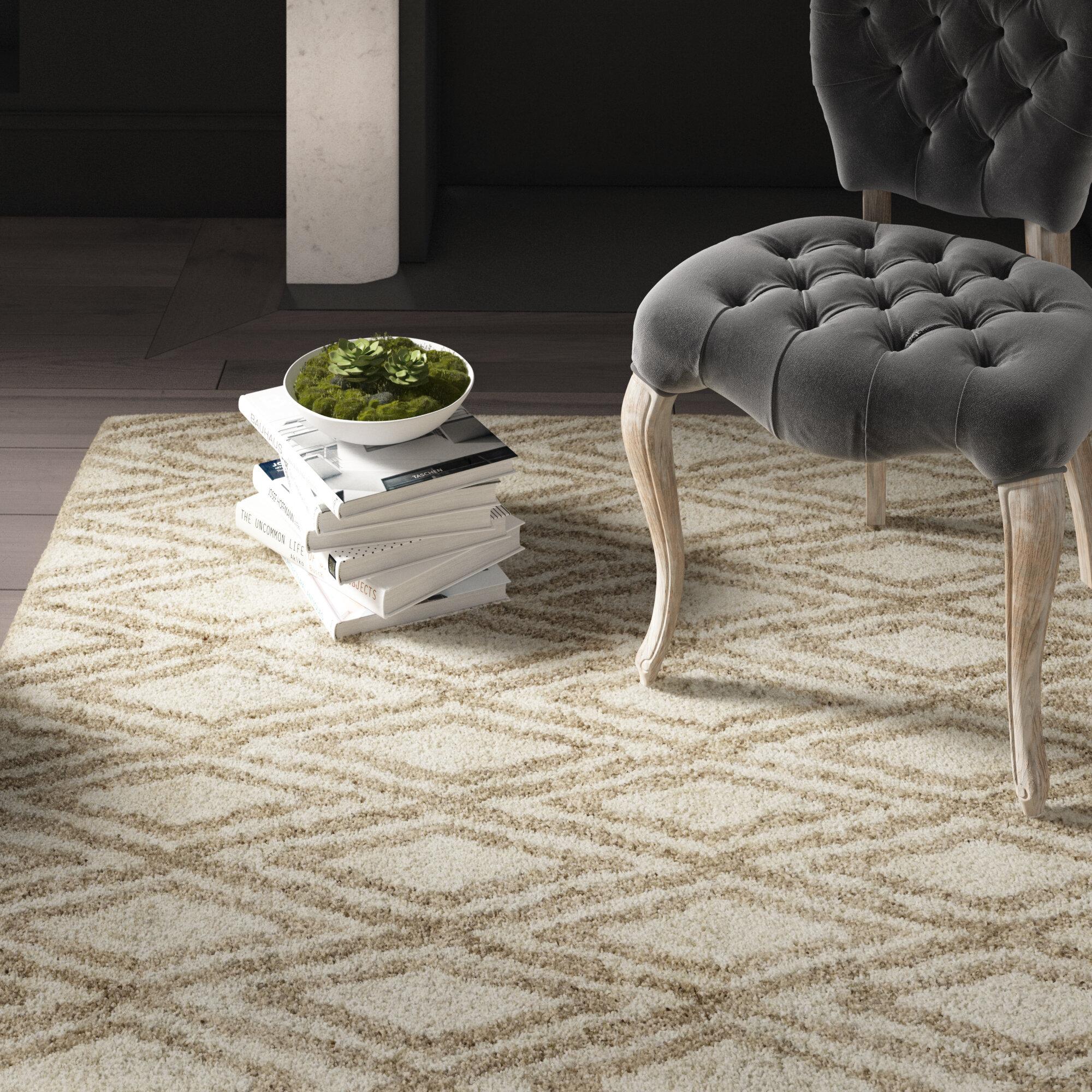Greyleigh Brashear Geometric Handmade Tufted Area Rug Reviews Wayfair