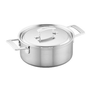 Industry 5.5 Qt. Stainless Steel Round Dutch Oven