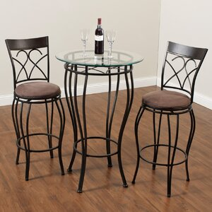 Wellington 3 Piece Pub Table Set