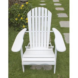 Warwick Solid Wood Folding Adirondack Chair by Breakwater Bay