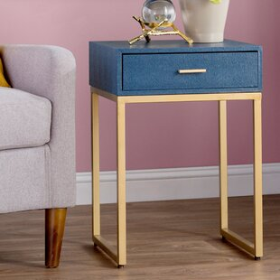 Willa Arlo Interiors Kylin Shagreen End Table