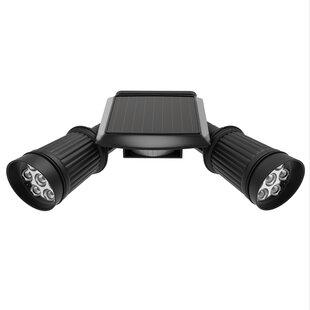 Dual Head 1-Watt LED Solar Power Outdoor Security Spot Light with Motion Sensor