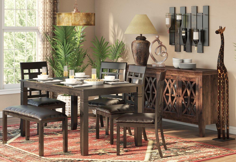 world menagerie kouaoua 6 piece dining set reviews wayfair 6 piece kitchen dining room sets sku wdmg7449