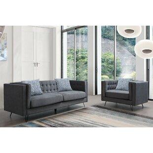 Manoel 2 Piece Living Room Set by Wrought Studio