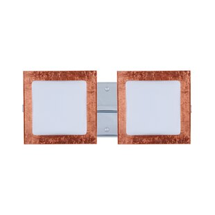 Latitude Run Catella Contemporary 2-Light Glass Vanity Light