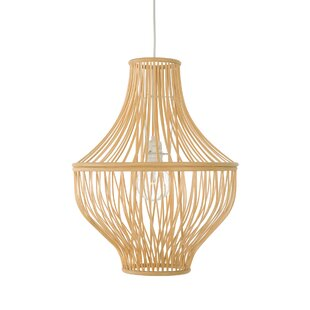 Priscila Bamboo Jar 1-Light Lantern Penda..
