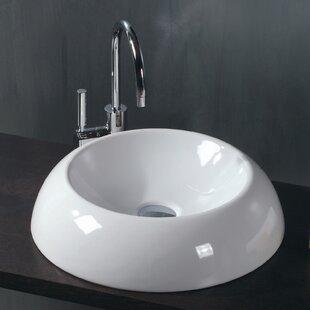 Top Reviews Ceramica Ceramic Circular Vessel Bathroom Sink ByWS Bath Collections
