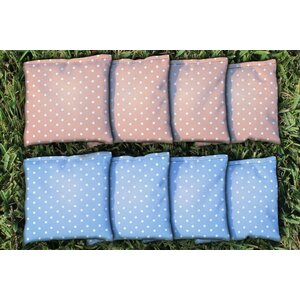 Polka Dot Wedding Corn Filled Cornhole Bag Set
