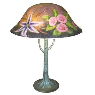 Flower Garden Reverse Painted 23 Table Lamp