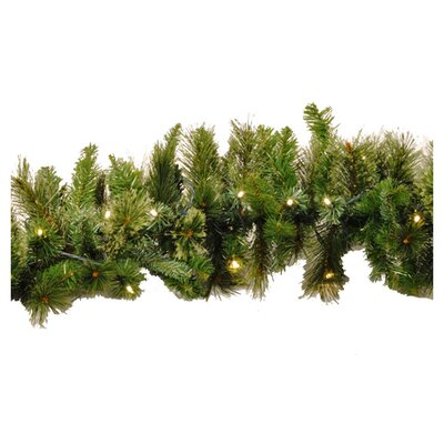 Queens of Christmas Blended Pine Garland Bulb Colour: Warm White