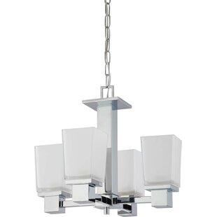 Edington 4-Light Shaded Chandelier by Ebern Designs