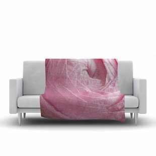 Compare Suzanne Harford Ranunculus Flower Petals Rose Floral Fleece Blanket By East Urban Home