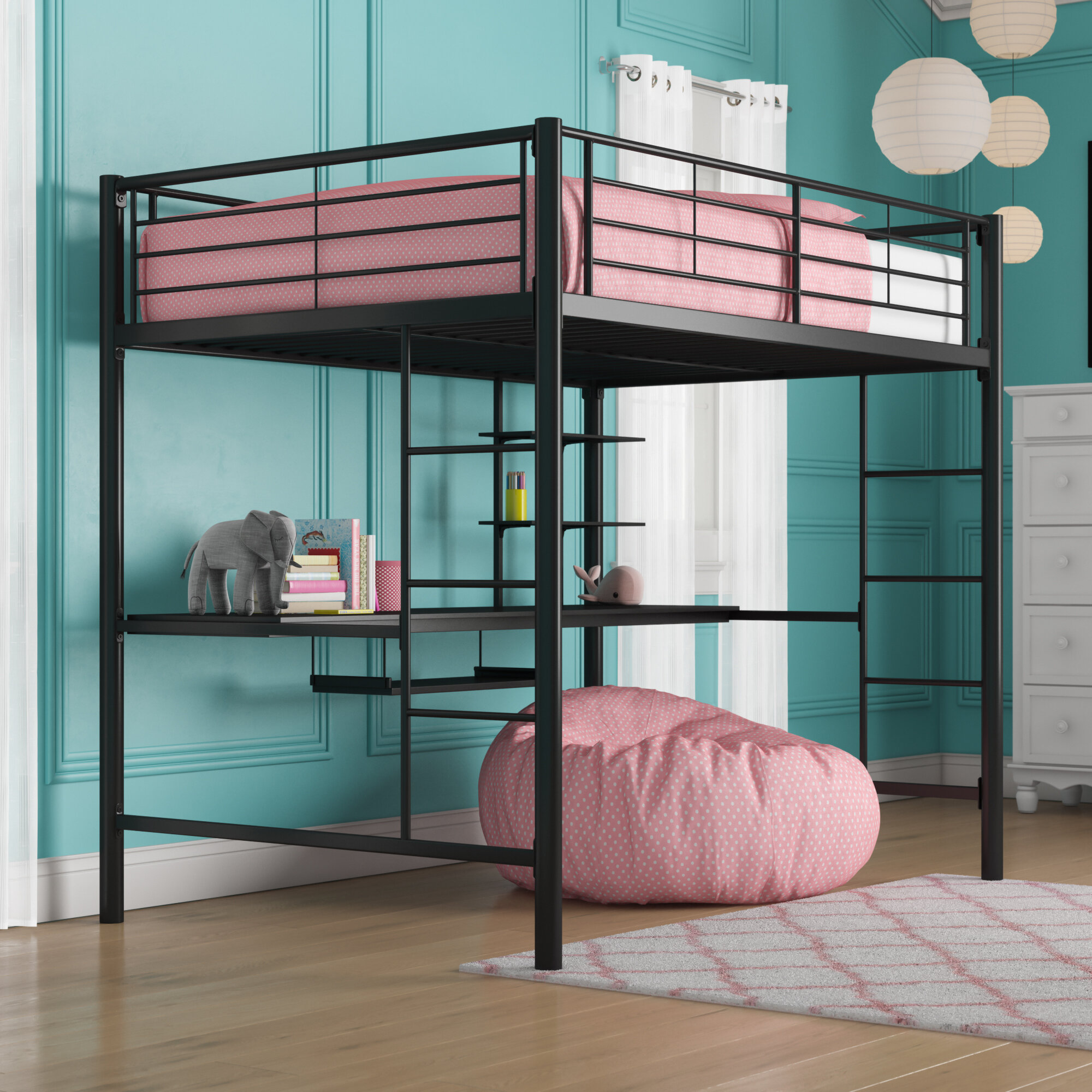 Viv Rae Maurice Full Loft Bed With
