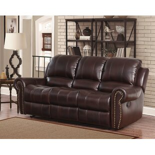 Shop For Barnsdale Leather Reclining Sofa by Darby Home Co Reviews (2019) & Buyer's Guide