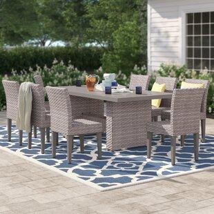 Kenwick 9 Piece Outdoor Patio Dining Set by Sol 72 Outdoor
