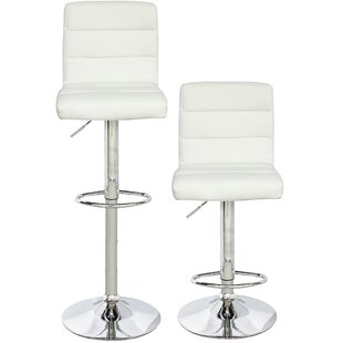 Thuringowa Series Adjustable Height Swivel Bar Stool (Set of 2)