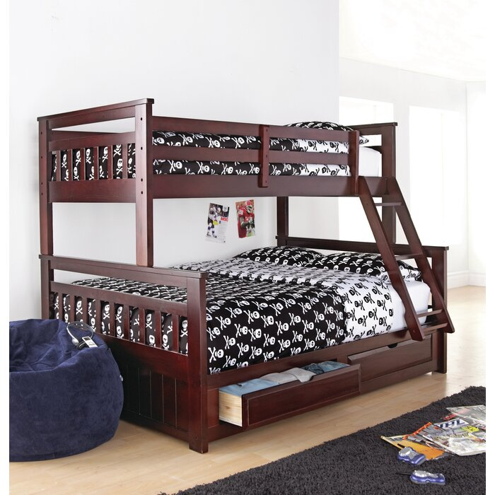 Wildon Home Springdale Twin Over Double Bunk Bed With Storage