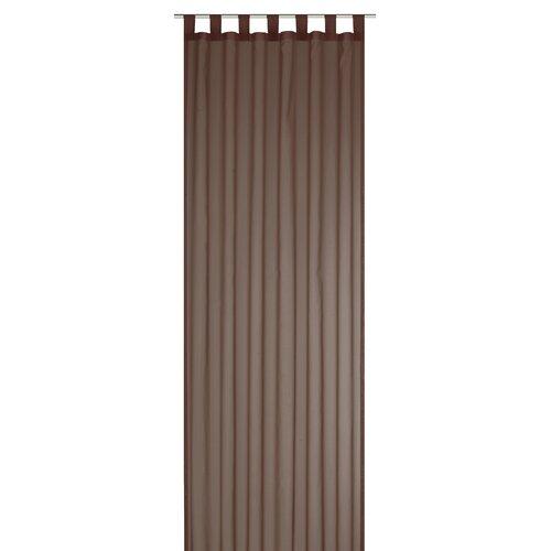 Gardine Feel Good mit Schlaufen (1 Stück) | Heimtextilien > Gardinen und Vorhänge > Gardinen | Braun | Stoff - Metall | Elbersdrucke