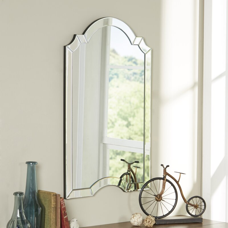 Arch Wall Mirror willa arlo interiors arch/crowned top wall mirror & reviews | wayfair