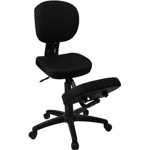 Woodmansee Mobile Mid-Back Height Adjustable Kneeling Chair with Dual Wheel