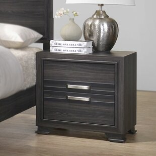 Jessup Wooden 2 Drawer Nightstand