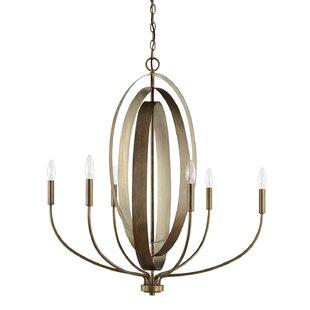 Everly Quinn Harrow 6-Light Candle-Style ..