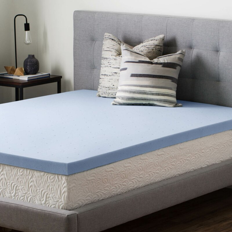 """New 2/"""" Traditional Memory Foam Mattress Topper Full Size Thick Plush Bed Pad"""