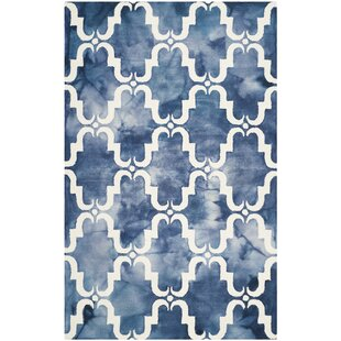 Comparison Monroe Hand-Tufted Wool Navy Blue/Light Blue/White Area Rug By Willa Arlo Interiors