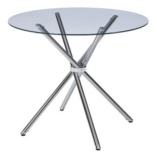 Modern Glass Dining Table In Vince Glass Dining Table Modern Contemporary Allmodern