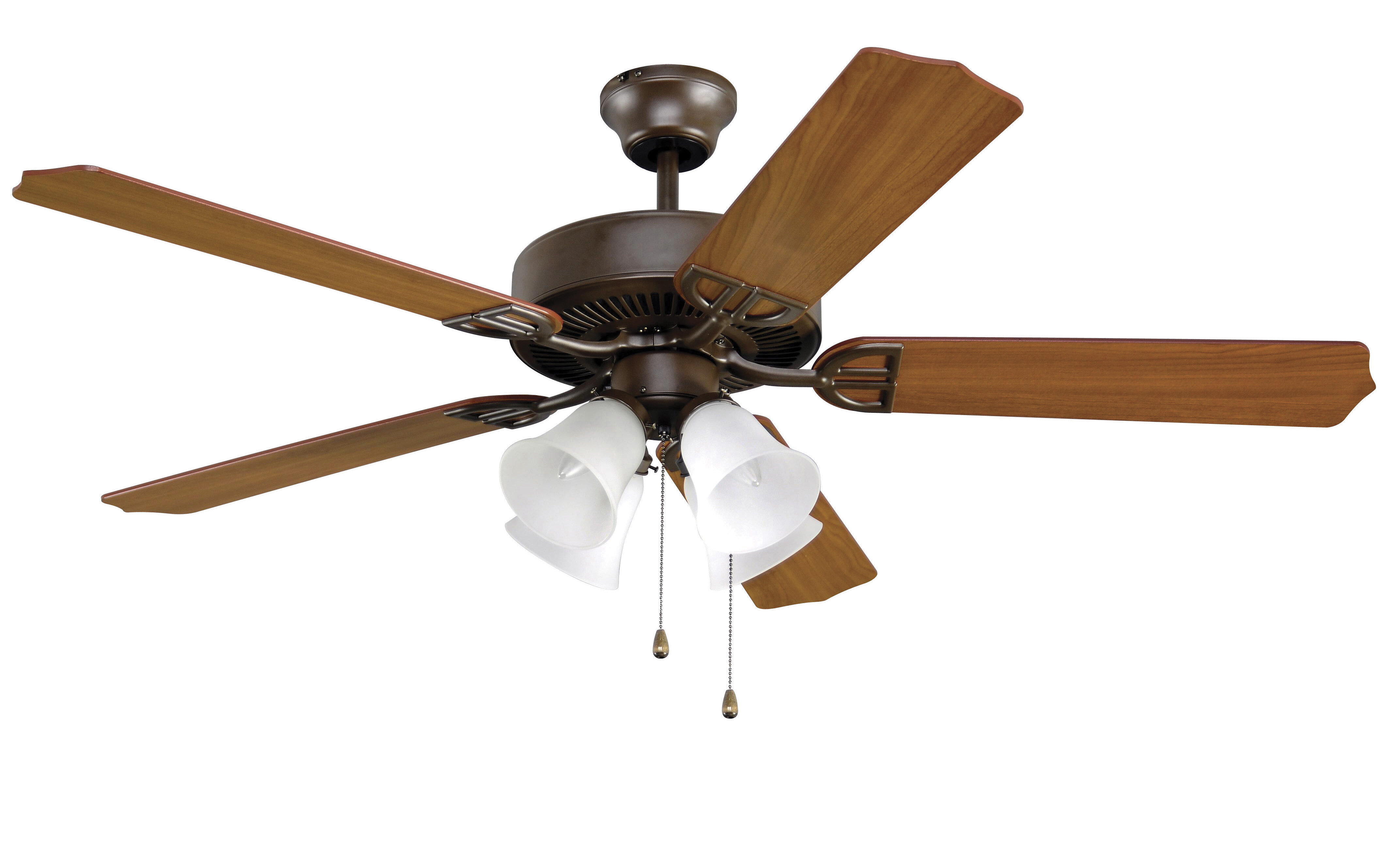 Fanimation 52 5 Blade Led Standard Ceiling Fan With Pull Chain And Light Kit Included Wayfair
