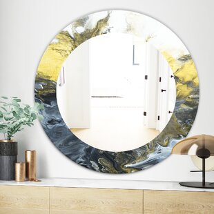 Marbled 7 Wall Mirror by East Urban Home