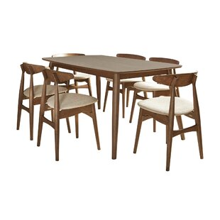 Buffum 7 Piece Counter Height Solid Wood Dining Set George Oliver
