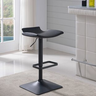 Elosie Adjustable Height Swivel Bar Stool (Set of 2)