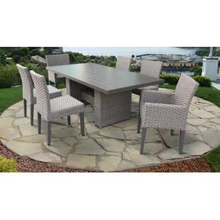 TK Classics Florence 7 Piece Outdoor Patio Dining Set