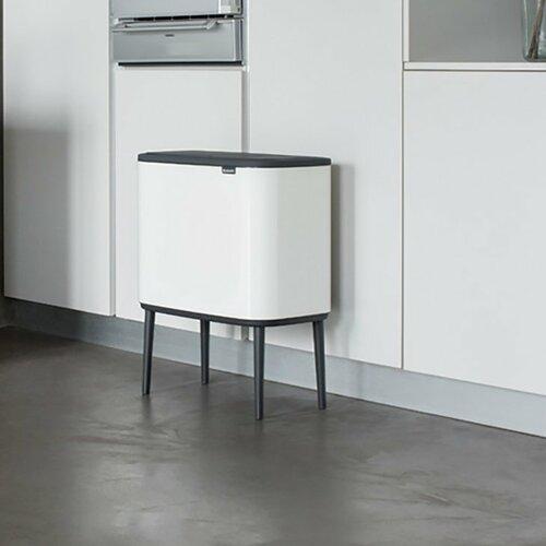 Müllcontainer mit mehreren Fächern Bo Touch mit Touch-Deckel   Büro > Büroschränke > Container   Weiß   Brabantia
